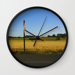 Crossroad Ahead  Wall Clock