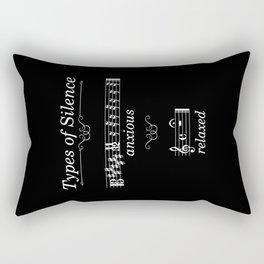 Types of silence (dark colors) Rectangular Pillow
