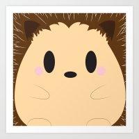 Hedgehog Block Art Print