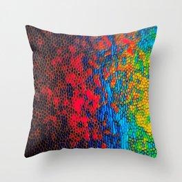 Colorul texture Throw Pillow