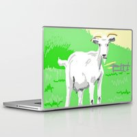 goat Laptop & iPad Skins featuring Goat by wingnang