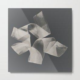 White roll bow Metal Print