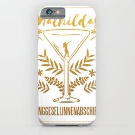 Mathilda hen iPhone Case