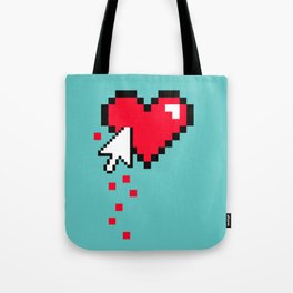Broken 8 bits Heart Tote Bag