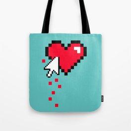 Broken 8 bits Heart Tote Bag