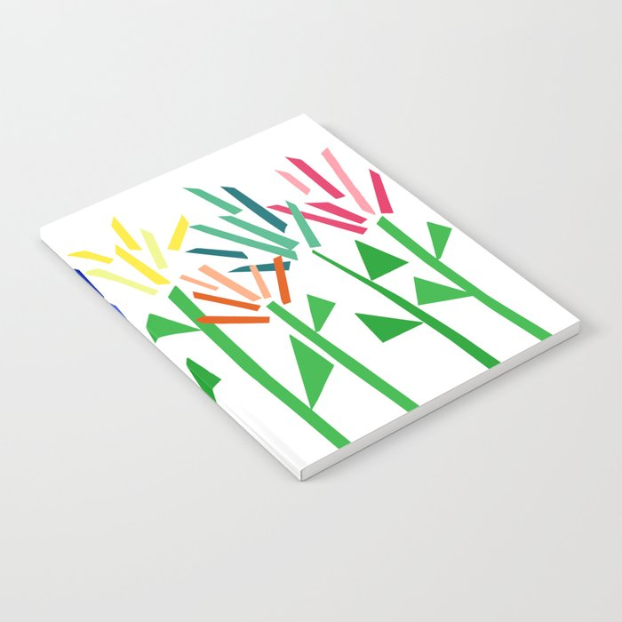 Tropical Rainbow Collage by Emma Freeman Notebook