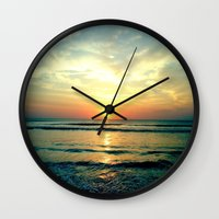 sunrise Wall Clocks featuring Sunrise by THEORY
