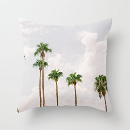 Palm Springs Palm Trees Throw Pillow