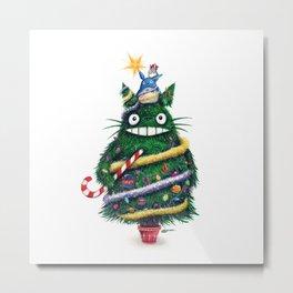 Christmas T0T0R0 (Studio Ghibli) Metal Print