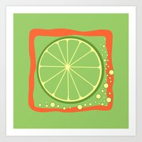 coasters Art Prints featuring LIME by Tanya Pligina