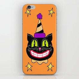 Vintage Halloween Black Cat iPhone Skin