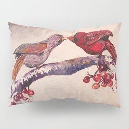 Kissing Cardinals Pillow Sham
