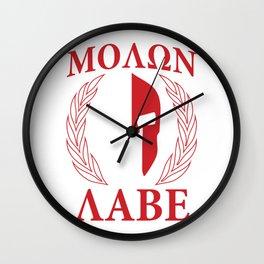 Molon labe laurels ma Wall Clock