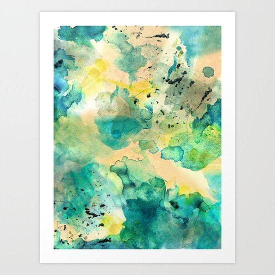 Diving Art Print