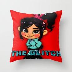 vanellope von schweetz Throw Pillow