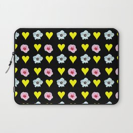 hearts and flowers -bloom,blossom,petal,floral,leaves,flor,garden,nature,plant. Laptop Sleeve
