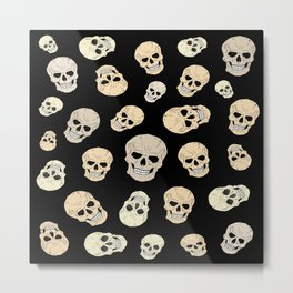 Skull Pattern #2 Metal Print
