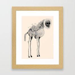 Tall Horse With Skull Framed Art Print