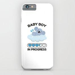 Baby Boy In Progress iPhone Case