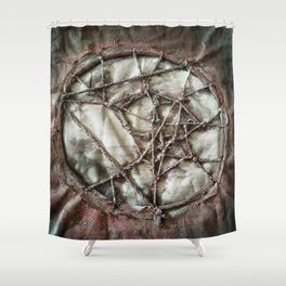 Woven Threads . Dream Catcher Shower Curtain