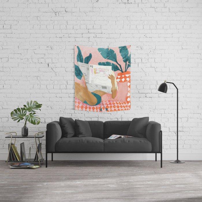 Morning News Wall Tapestry