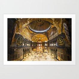 Hagia Sophia Interior Art Print