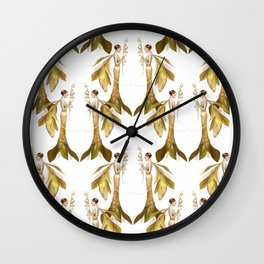 Lily of the Valley Fairy Pattern Wall Clock