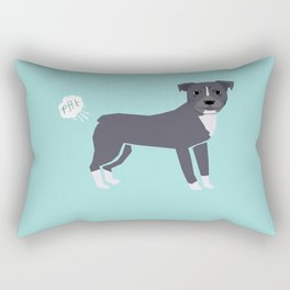 pitbull farting dog cute funny dog gifts pure breed dogs Rectangular Pillow