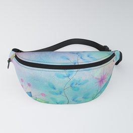 Ethereal garden watercolor painting Fanny Pack