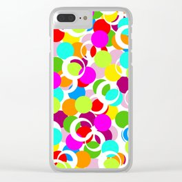 Color Circles School Print Clear iPhone Case