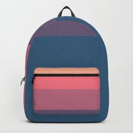 Geometrical orange pink violet blue minimalist stripes Backpack
