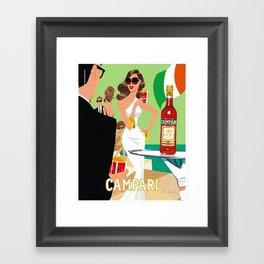 1970 Campari Vintage Cordial Italian Riviera Amalfi Coast Aperitif Advertisement Poster Framed Art Print