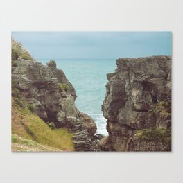 Pancake Rocks in New Zealand Canvas Print