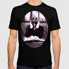 The Invisible Man Black Mens Fitted Tee MEDIUM