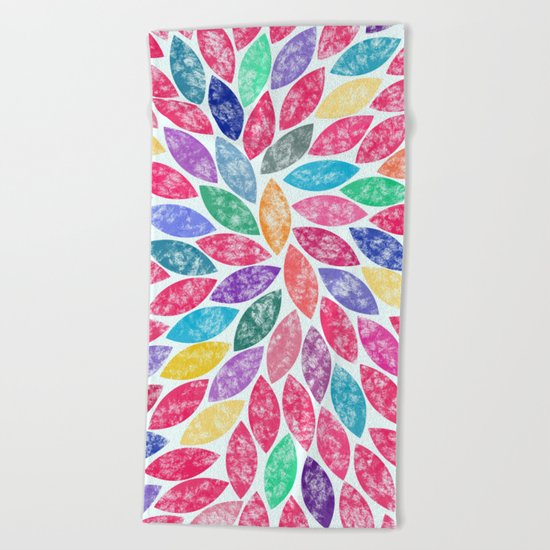 Abstract Colorful leaves II Beach Towel