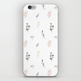 Little botanics pastel pattern iPhone Skin