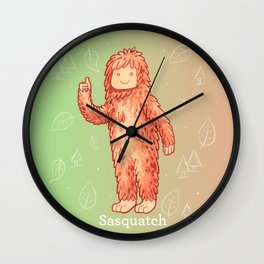 Sasquatch - Cute Cryptid Wall Clock