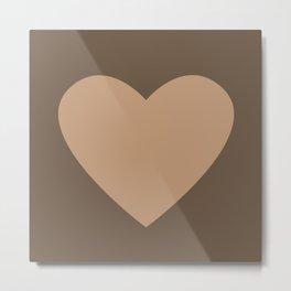 Heart No. 1 -- Brown Metal Print