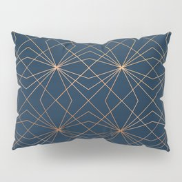 Navy & Copper Geo Lines Pillow Sham