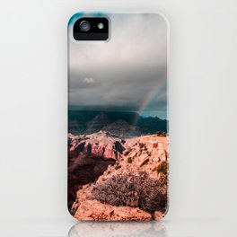 Rainbow over the Canyon iPhone Case