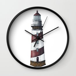 Nautical Red Light House Wall Clock