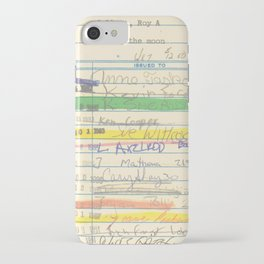 Library Card 3503 Exploring the Moon iPhone Case