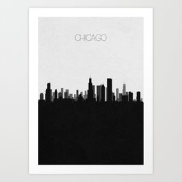 City Skylines: Chicago Art Print