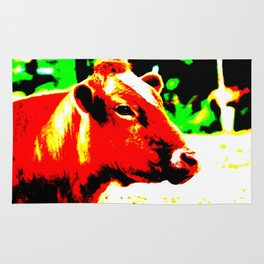 Abstract Cow Rug