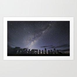 Milky Way from Rapa Nui (Easter Island) Art Print