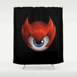 The Eye of Rampage Shower Curtain