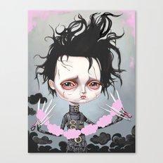Edward Scissorhands Is Sad Canvas Print
