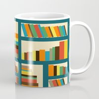library Mugs featuring library by vitamin
