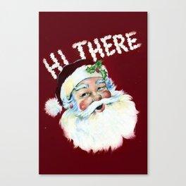 Cute vintage santa claus portrait Canvas Print