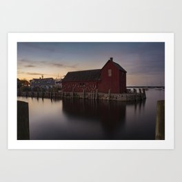 Motif #1 after sunset Art Print